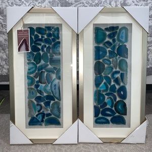 Beautiful New Natural Agate Shadow Boxes